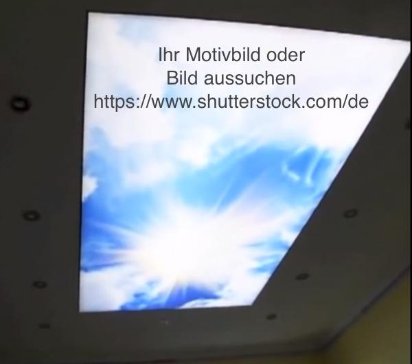4133cde9b9 Spanndeckenshop24 - Bedruckte Spanndecke / Lichtdecke- Wolkenmotiv 1